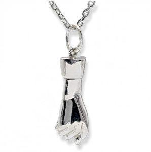 Puño de la suerte, amuleto de plata