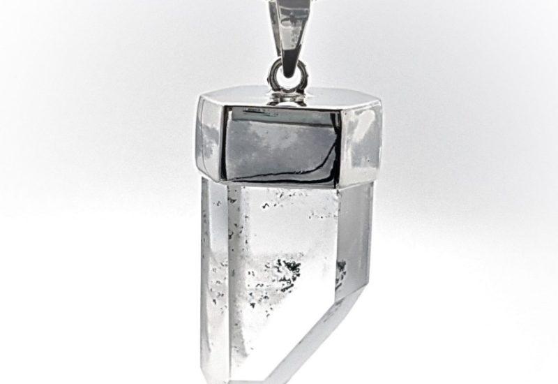 Colgante punta de Cuarzo Cristal de Roca