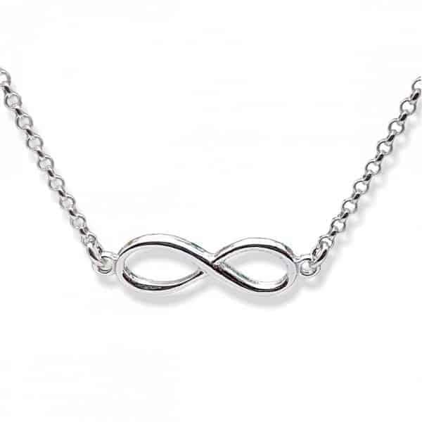 Símbolo del infinito en plata