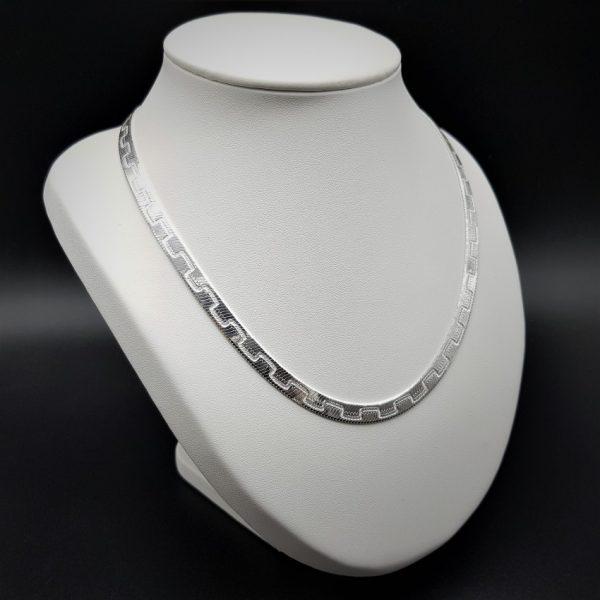 Collar gargantilla greca de plata