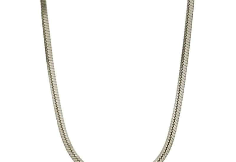 Cadena TOPO cuadrada de 45 cms y 0,7 mm de grosor en plata