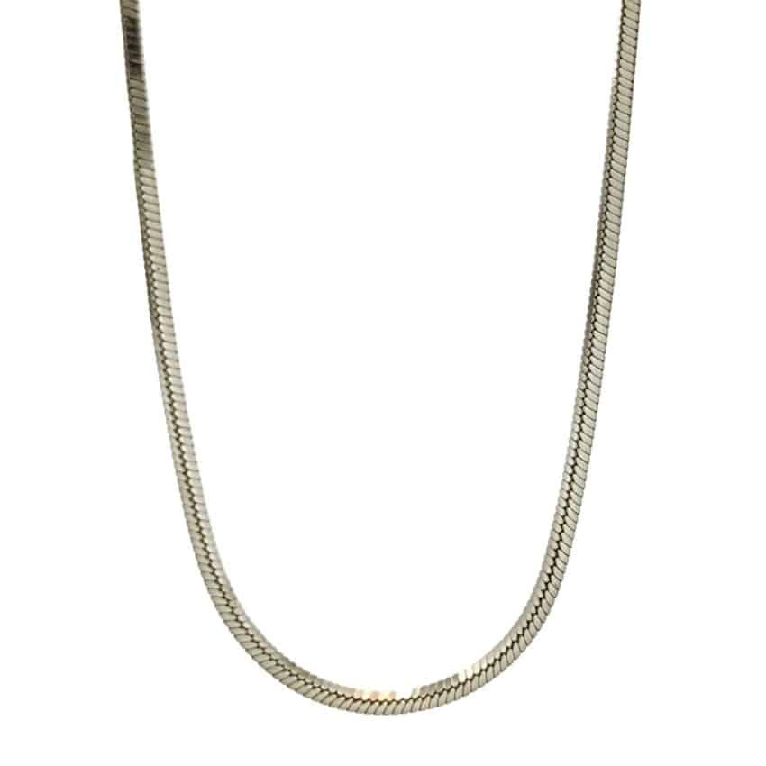 Cadena Topo cuadrada en plata 925 de 0,7 mm de grosor (5)