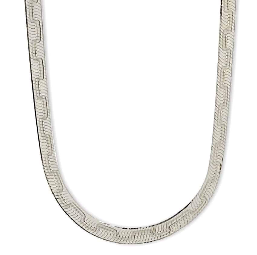 Gargantilla plata de 5 mm de ancho en plata 925 (s1)