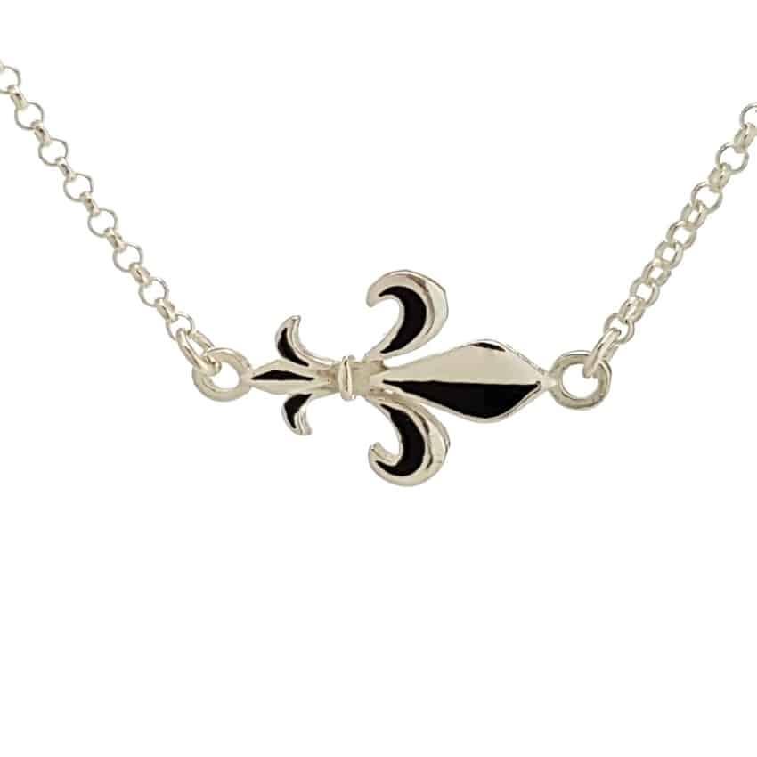 Gargantilla plata flor de lis (2)