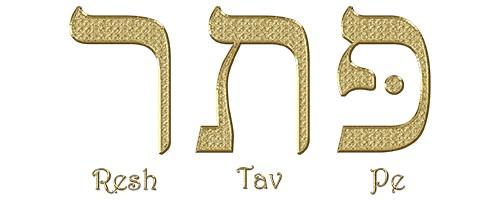 """Las letras en Hebreo """"Resh-Tav-Pe"""" cuya traducción es """"Patar"""". Esto hace referencia al verbo, a la palabra de Dios."""