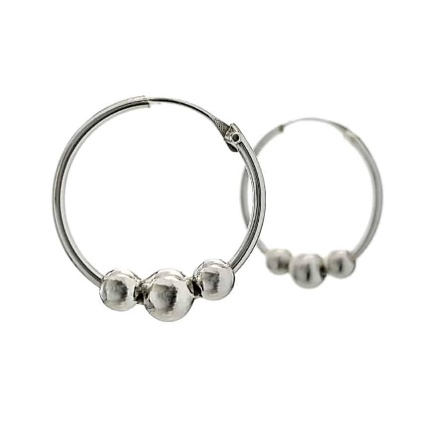 Argollas bolas de plata de 2,5 cms (1)