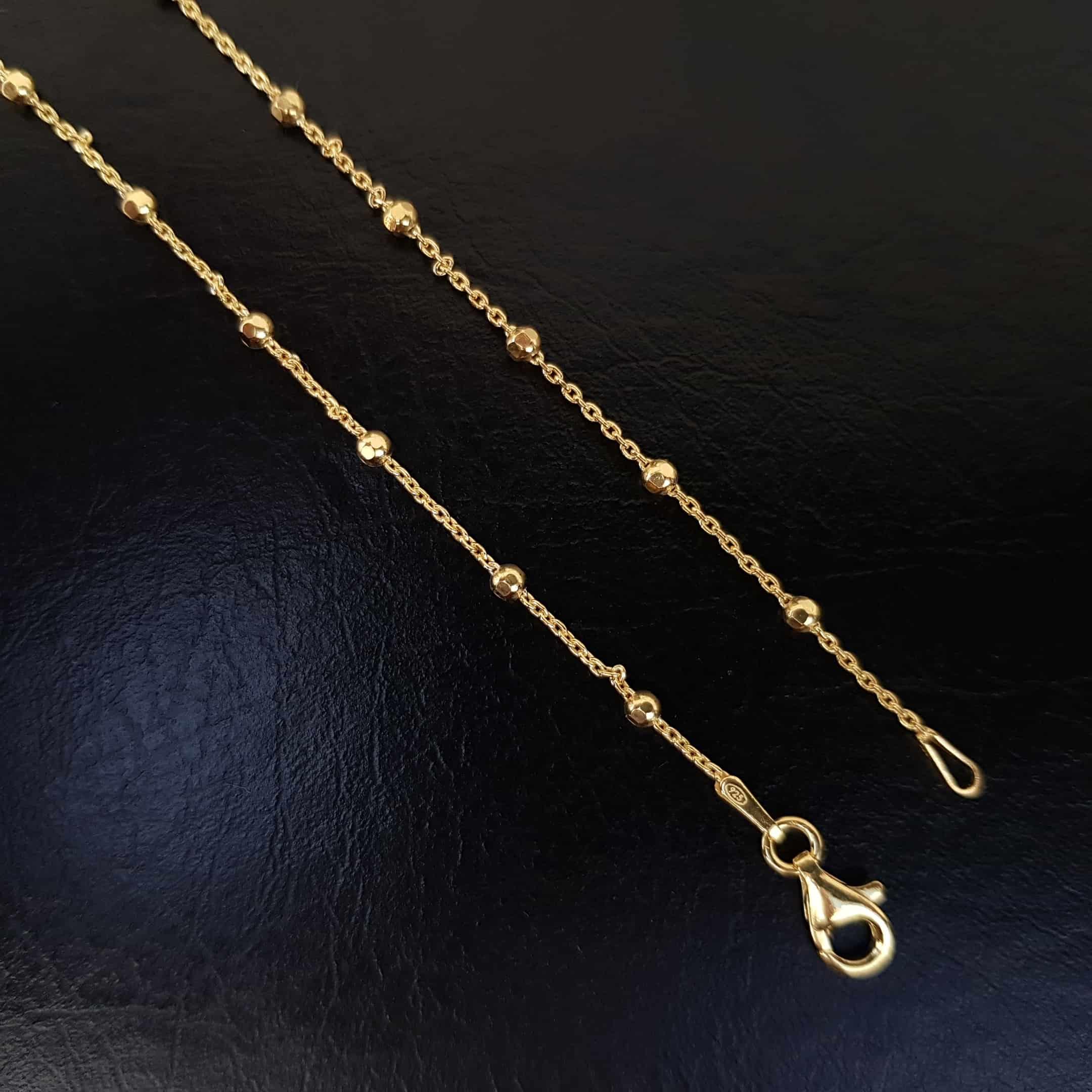 cadena de plata f35 chapada oro
