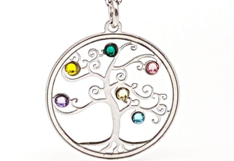 Gargantilla árbol de la vida en plata de ley con circonitas