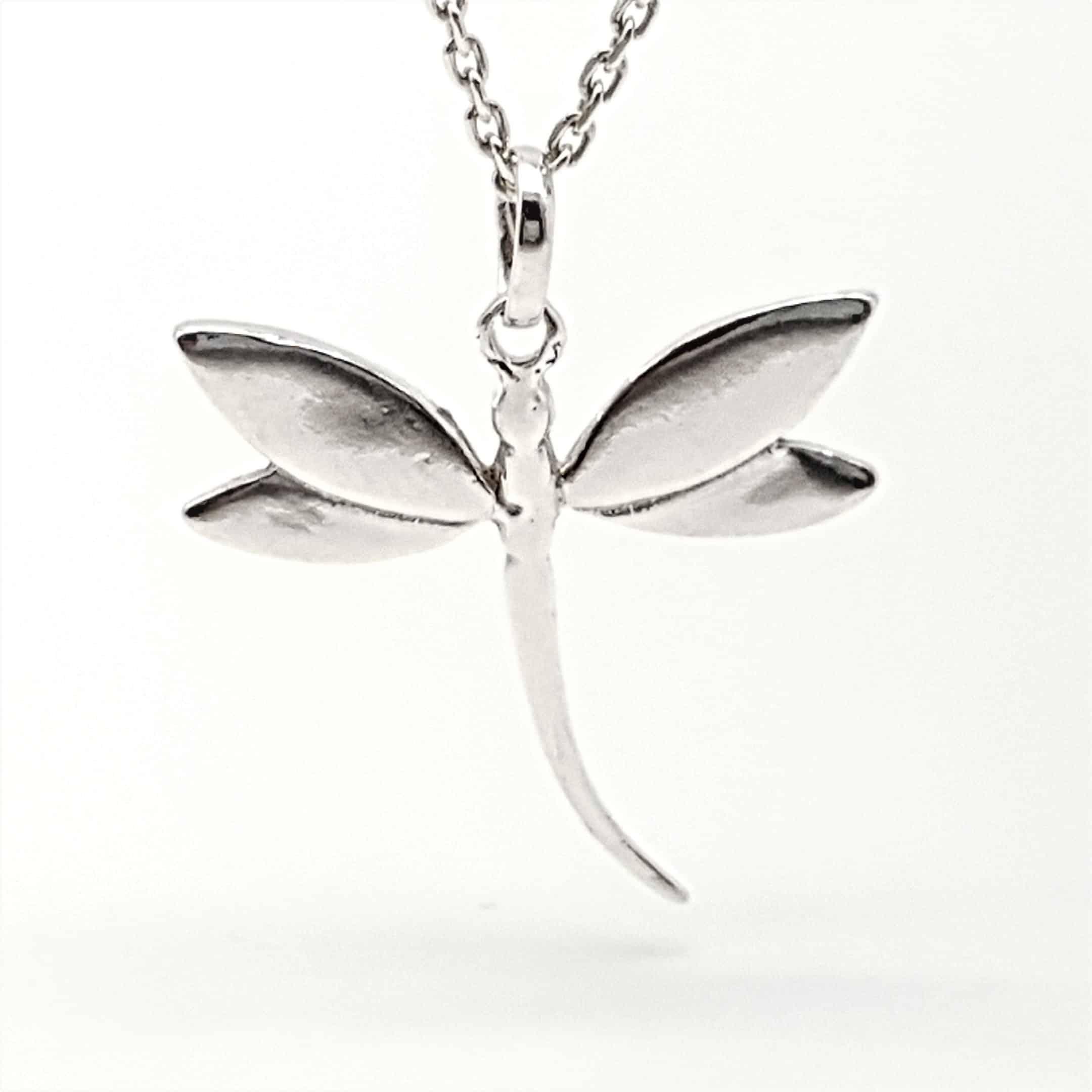 Colgante libélula de plata (2)