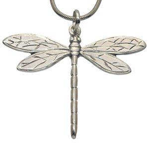 Colgante libélula realizado en plata 925