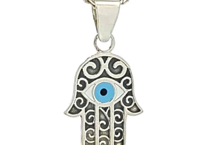 Medalla de la Mano de fátima en plata 925