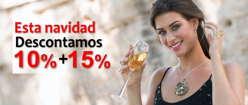 Esta navidad descontamos te descontamos el 10%. Y el 15% extra y acumulativo si tu compra supera los 90 €.