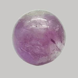 Esfera de amatista de 5,8 centímetros de diámetro