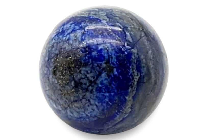 Esfera de lapislázuli de Afganistán de 4 centímetros