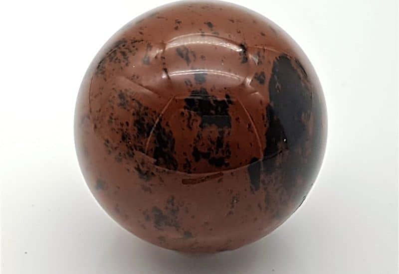 Esfera de obsidiana caoba