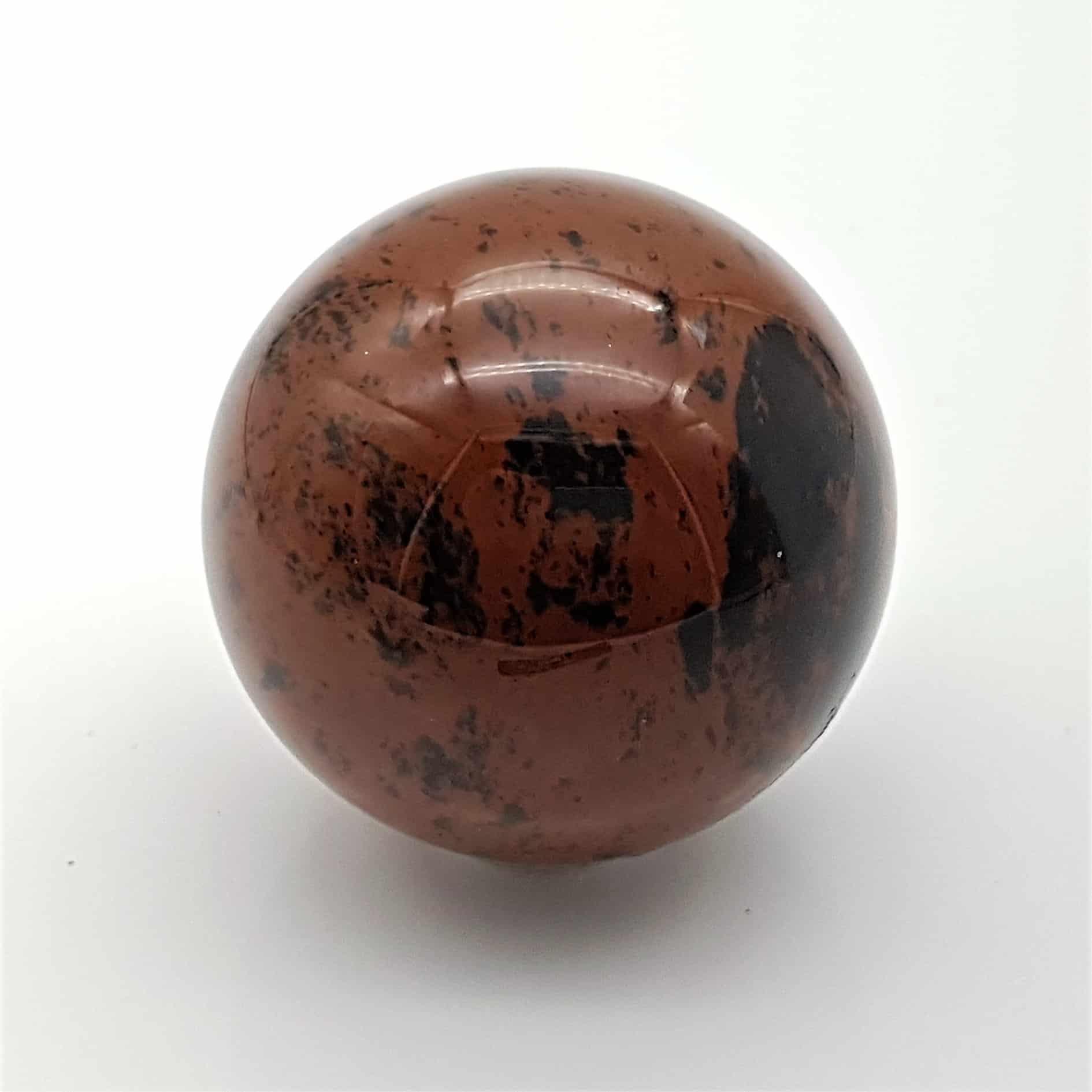 Esfera obsidiana caoba (2)