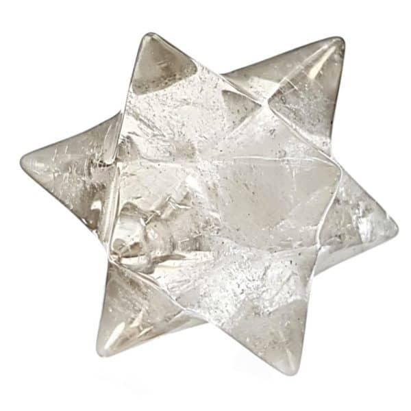 Estrella doble mercarkaba de cuarzo cristal de roca de Brasil (1)
