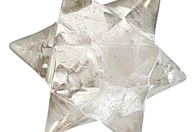 Estrella doble merkaba de cuarzo cristal de roca