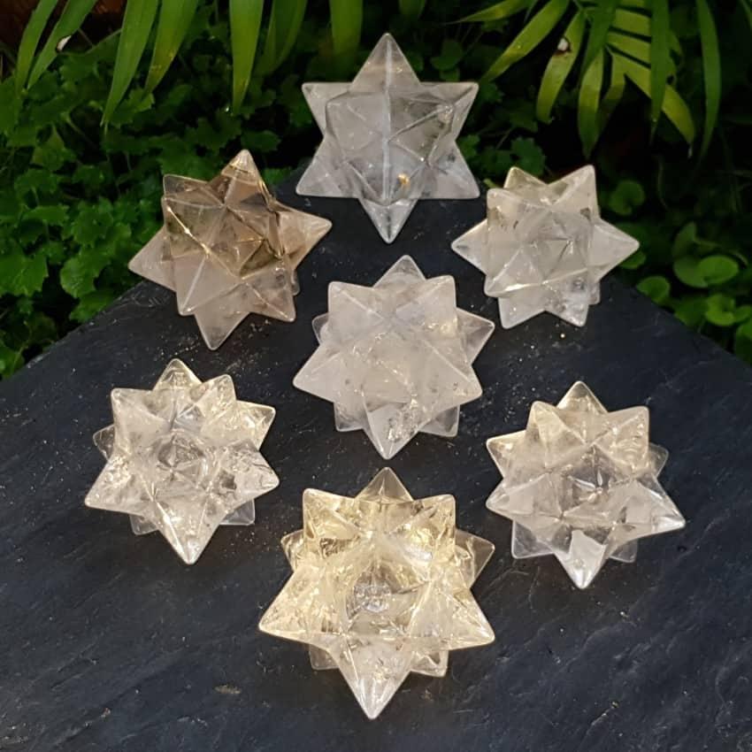 Estrella doble mercarkaba de cuarzo cristal de roca de Brasil (15)
