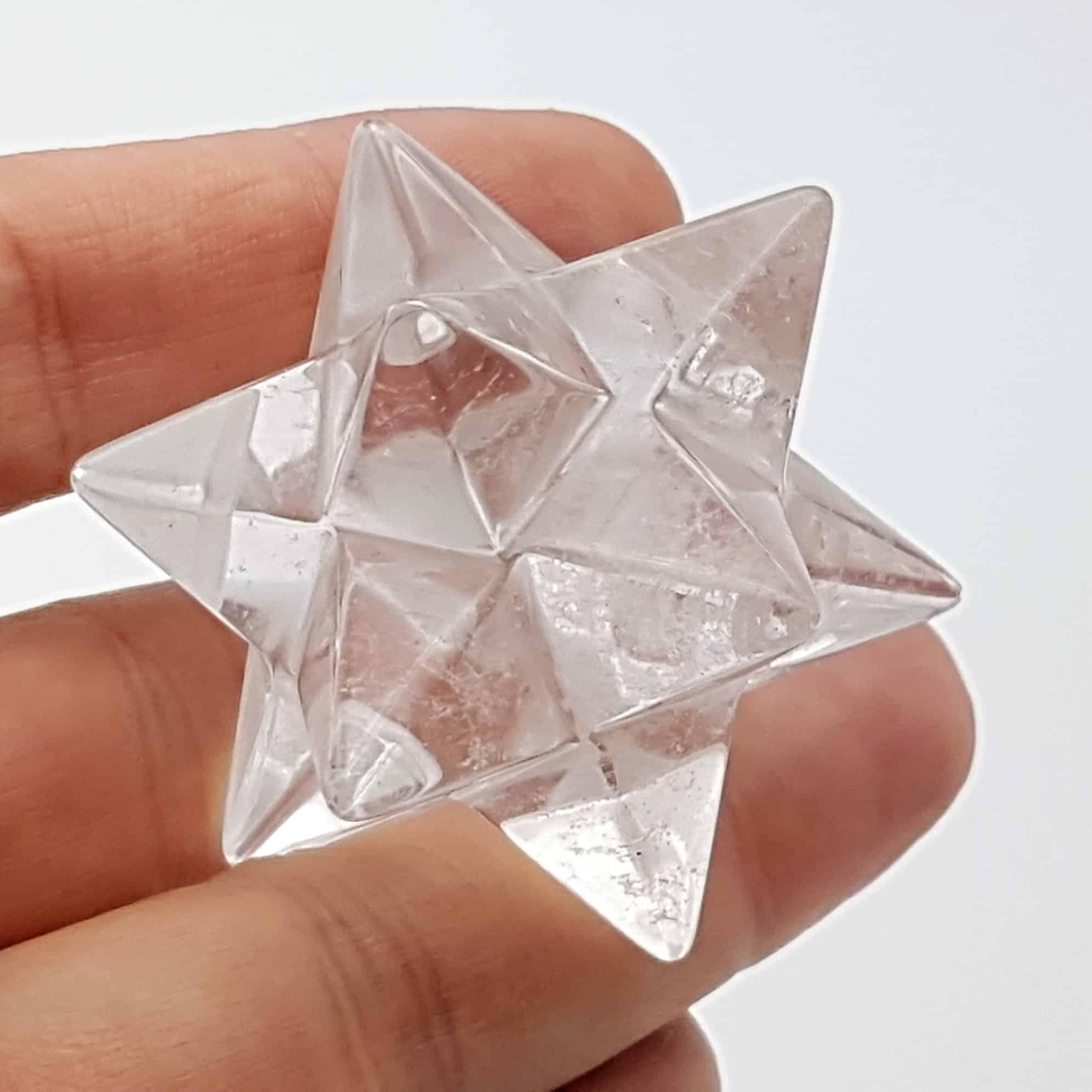 Estrella doble merkaba de cuarzo cristal de roca (1)