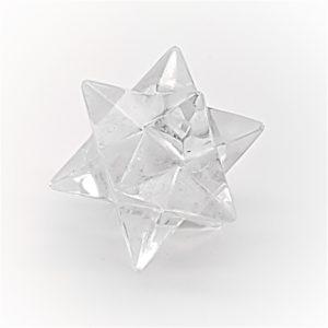 estrella merkaba doble elaborada a base de cuarzo cristal