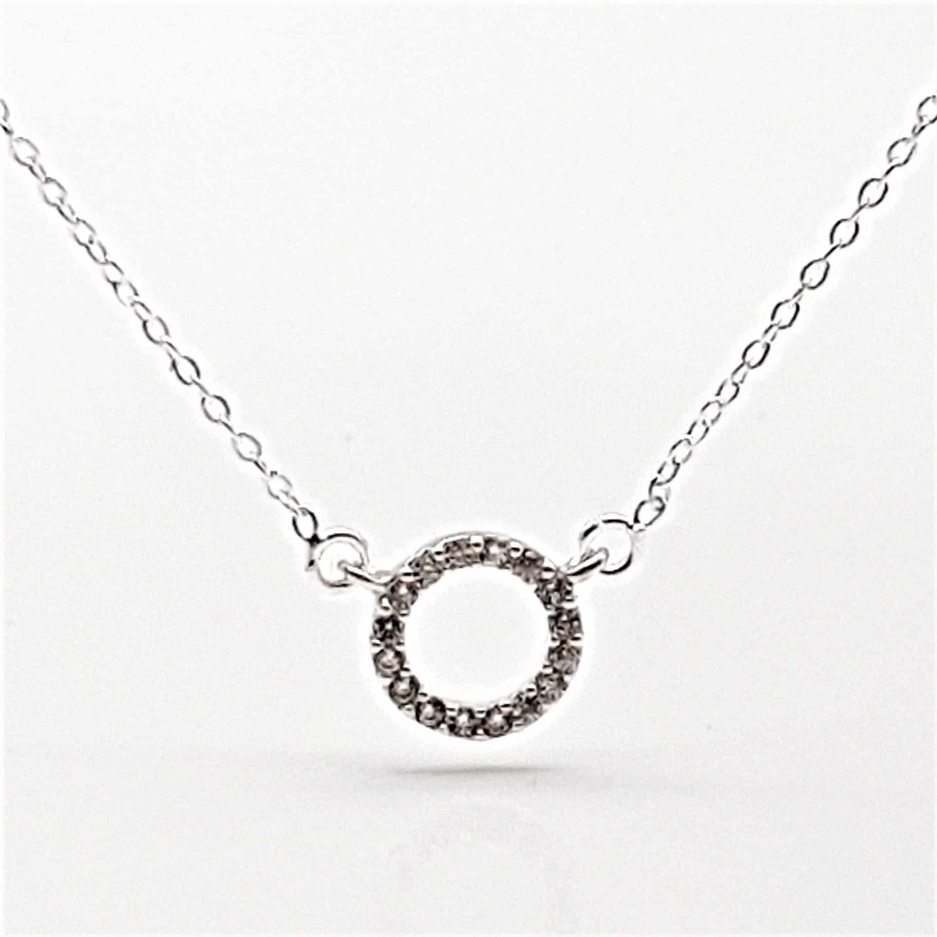 Gargantilla mini aro de plata y circonitas (7)