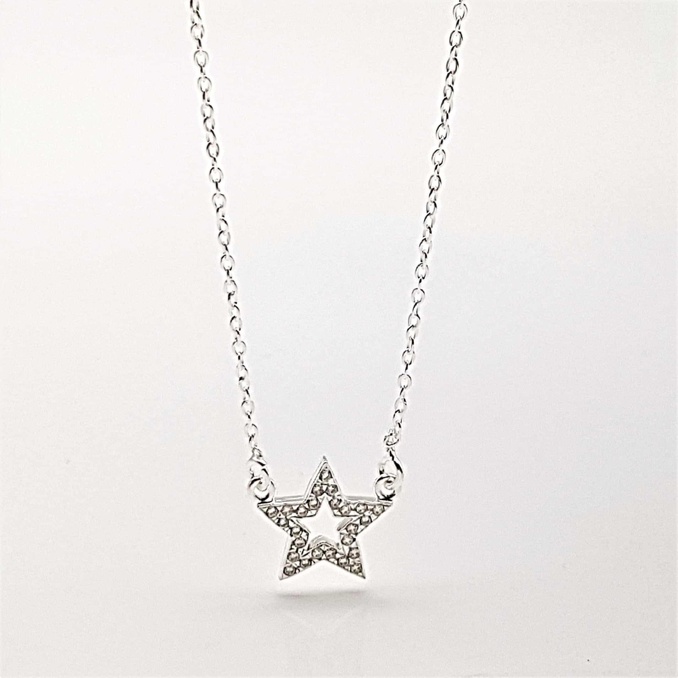 Gargantilla mini estrella de plata y circonitas (3)