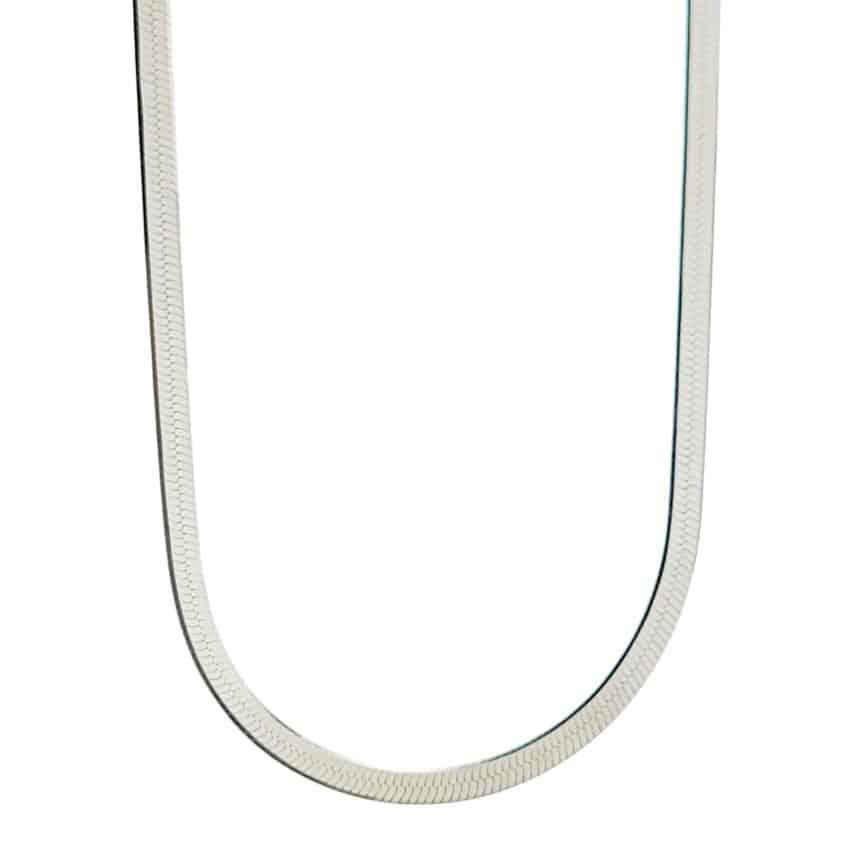 Gargantilla plana 2,6 mm de ancho en plata 925 (3)