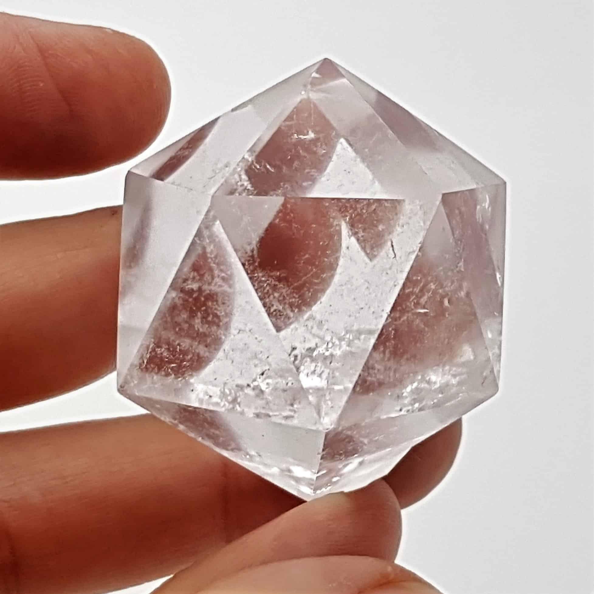 Icosaedro de cuarzo cristal de roca (2)