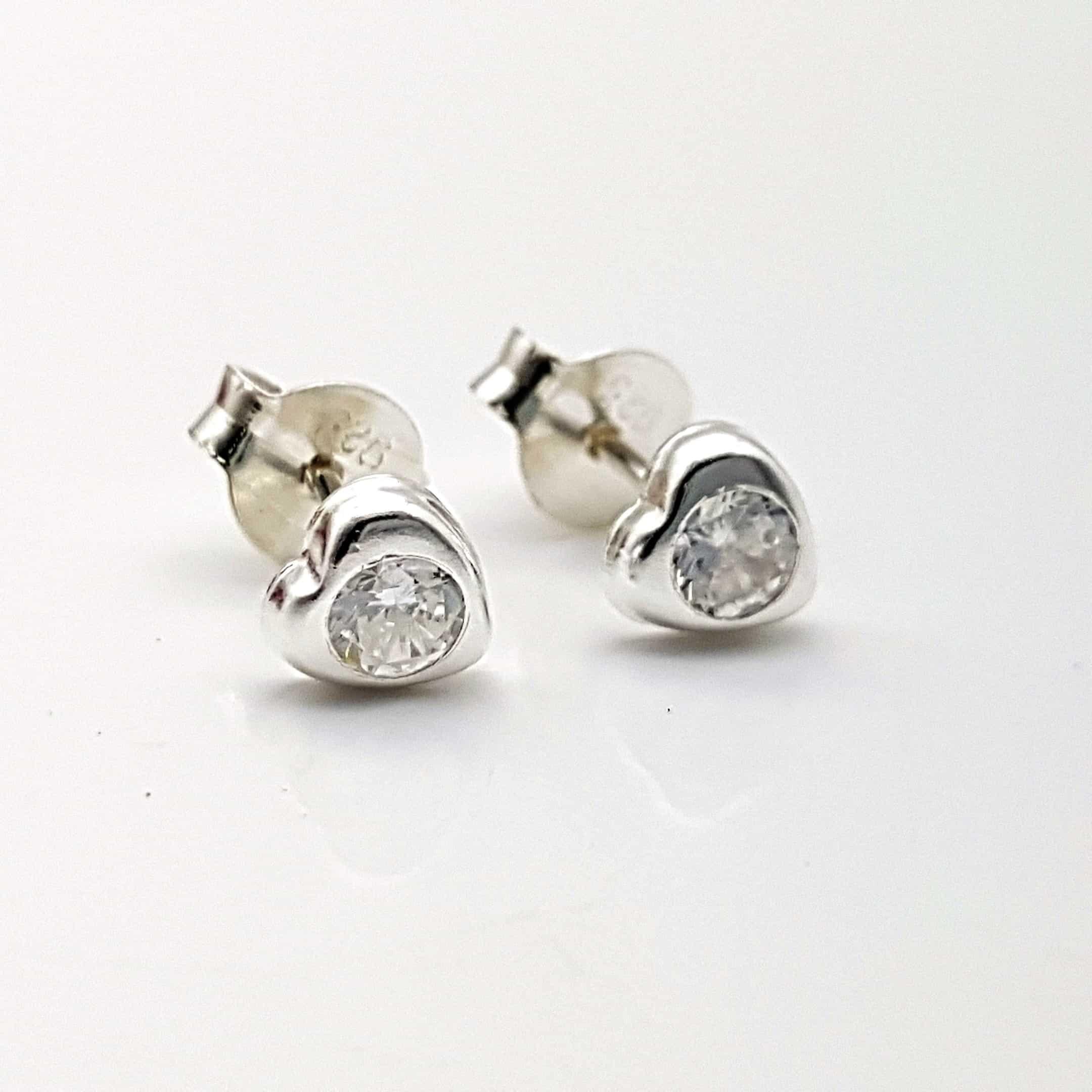 Mini pendientes circonitas y plata (3)