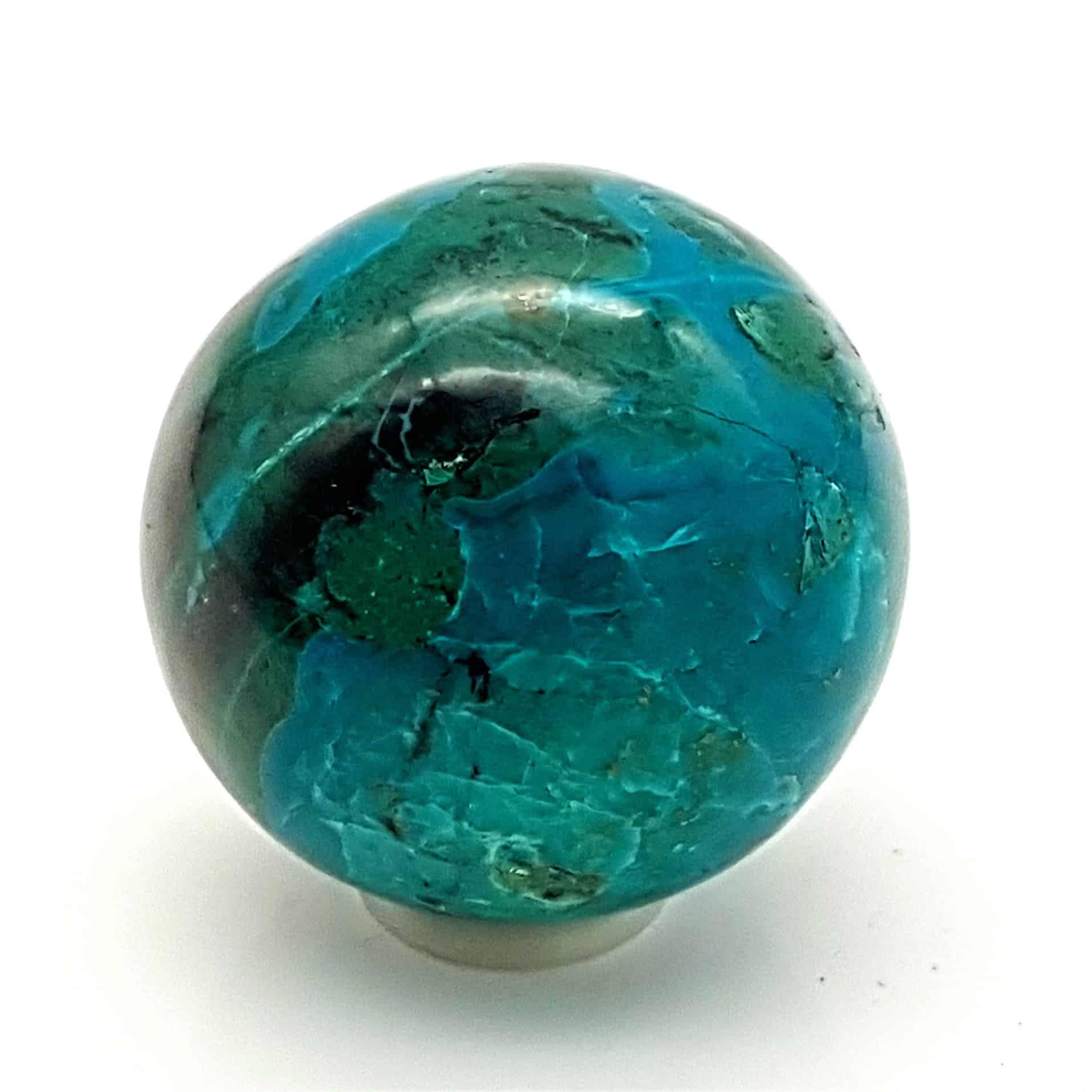 Piedra de crisocola en forma de esfera (2)