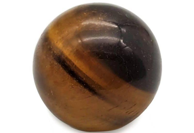 Esfera de ojo de tigre de 4 centímetros.
