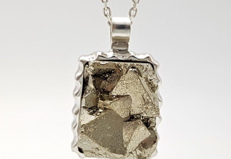 Colgante Pirita fabricado en plata de ley