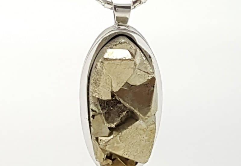 Colgante en plata y Pirita cristalizada