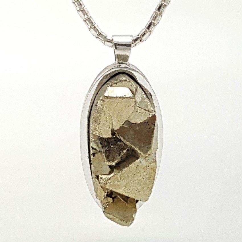 Colgante de plata y pirita cristalizada (2)