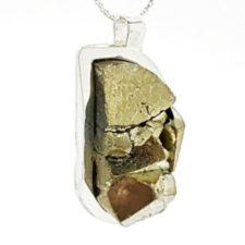 Colgante pirita Perú en plata (11)