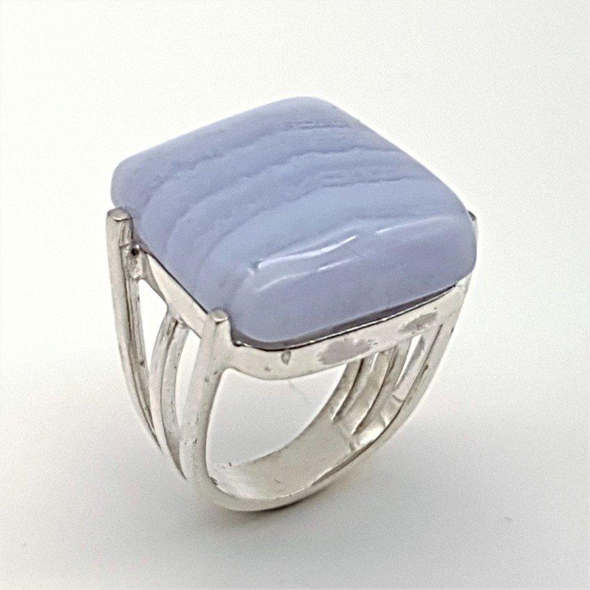 anillo de plata y calcedonia azul (1)