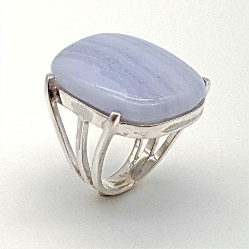 anillo de plata y calcedonia azul (4)