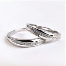 anillos de plata con baño de rodio