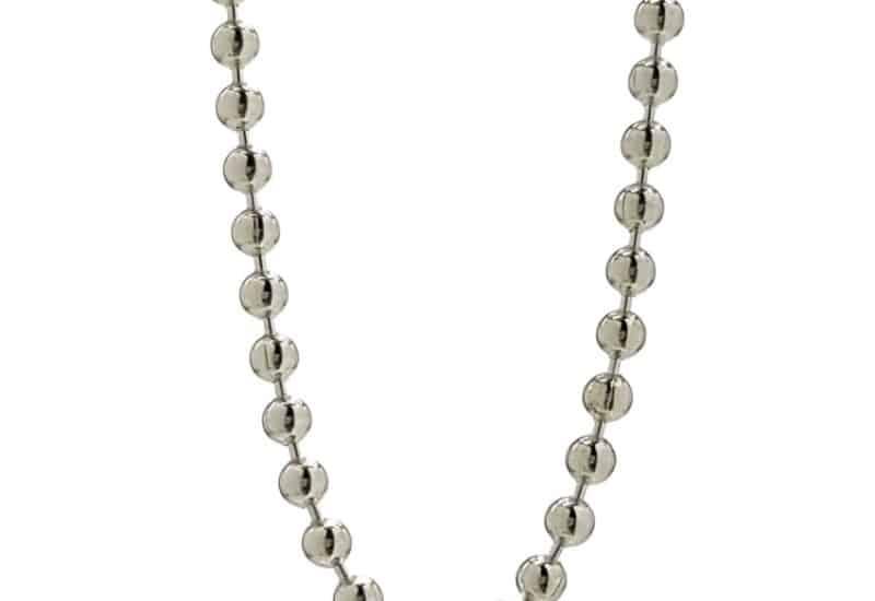 Cadena en Plata de Ley 925 mls – 50 cm, bolas de 2.3 mm