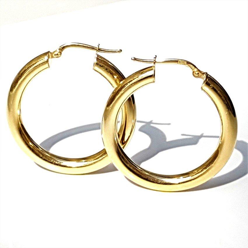 aros de plata chapados en oro