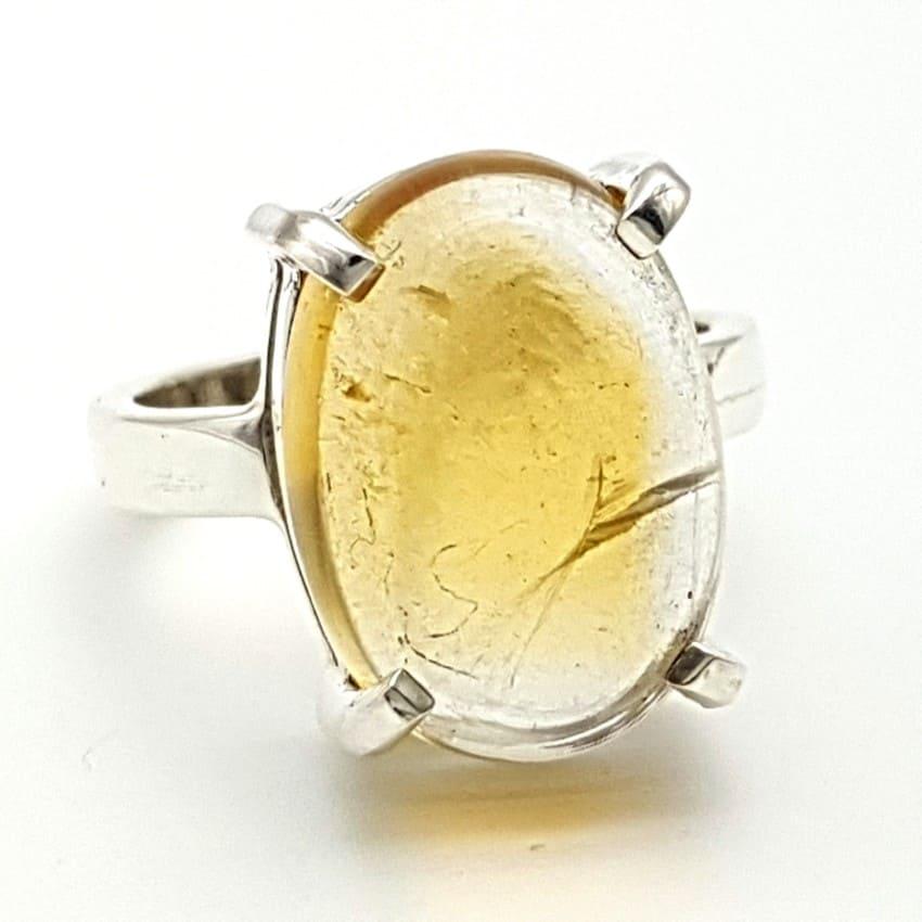 Anillo de plata y cuarzo citrino (2)