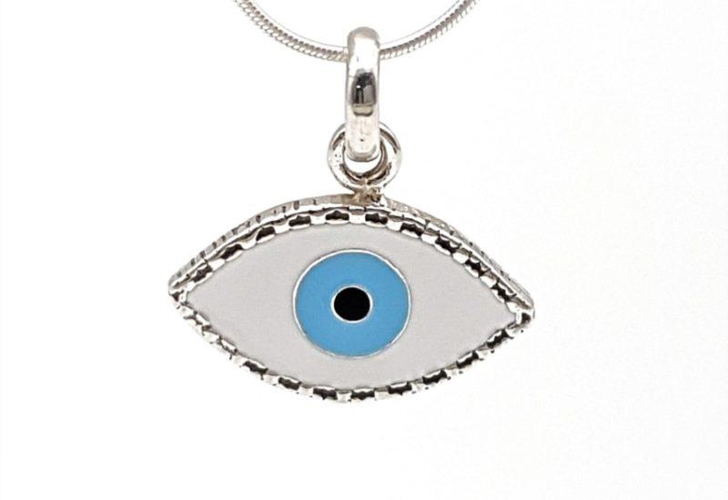 Colgante ojo turco de Plata de Ley 925 mls.