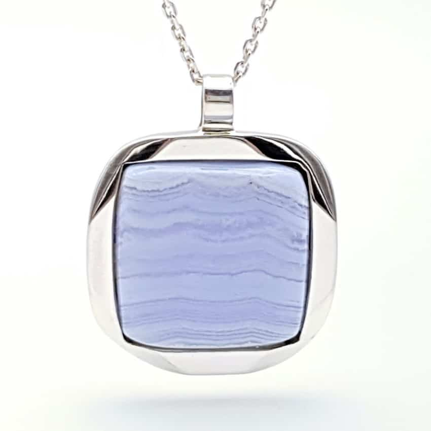Colgante calcedonia azul plata (3)