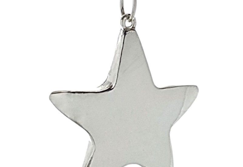 Colgante Estrella fabricado en plata