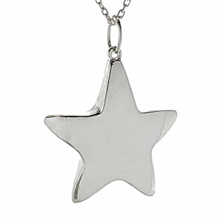 Colgante estrella de plata (3)