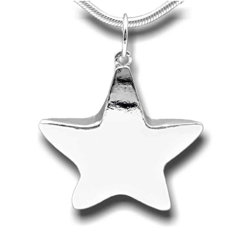 Colgante estrella de plata