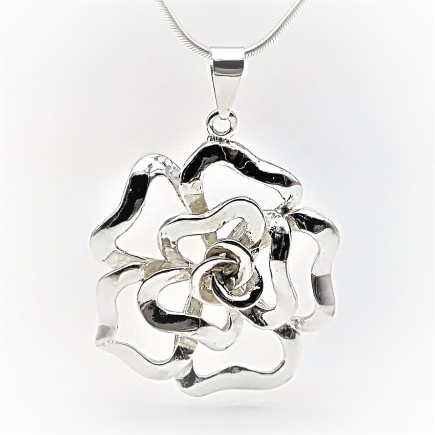 Colgante flor de plata (8)