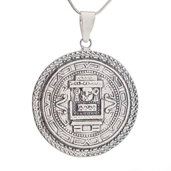 Colgante medalla calendario azteca (6)