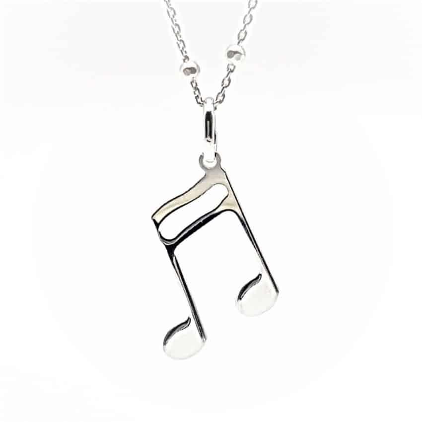 Colgante símbolo musical, corchea en plata (3)